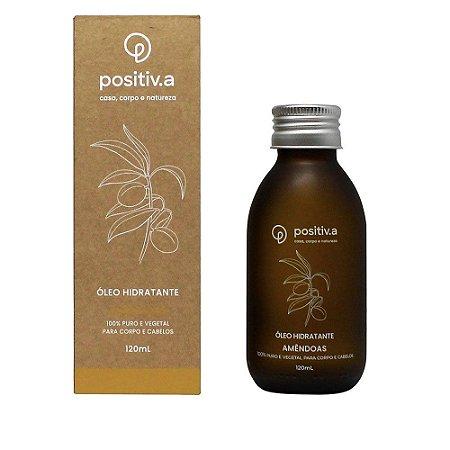 Óleo Hidratante de Amêndoas 120ml - 100% Puro, Natural e Vegano - Positiv.a