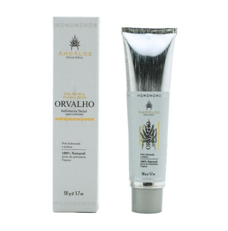 Hidratante Facial Acetinado Orvalho 50 g - Natural e Vegano - Ahoaloe
