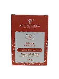 Condicionador Vegetal Sólido Henna & Karité 100 g - Natural e Vegano - Sal da Terra