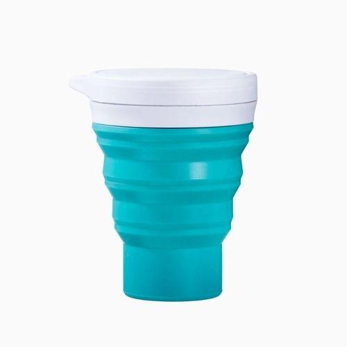 Copo Retrátil de Silicone Menos 1 Lixo - Verde