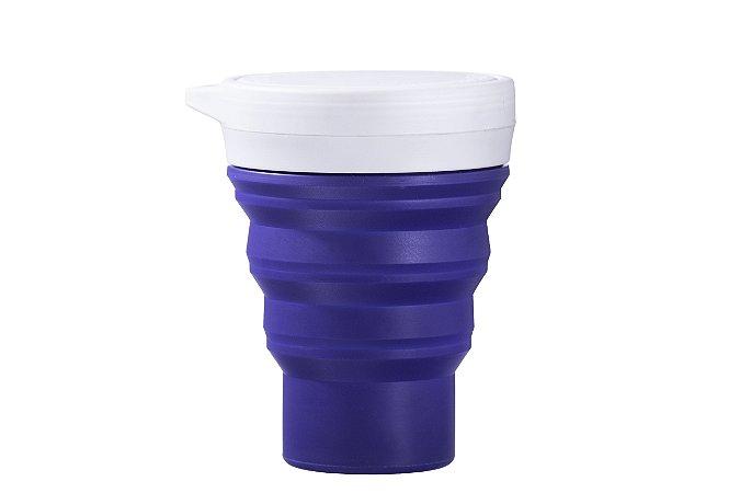 Copo Retrátil de Silicone Menos 1 Lixo - Azul Marinho