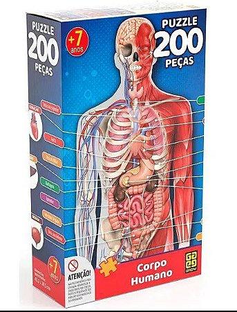 Puzzle 200 peças Corpo Humano