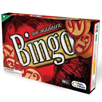 Jogo Bingo em madeira