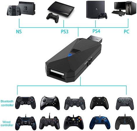 Adaptador Jys Pro Bluetooth P/ Nintendo Switch PS3 PS4 Rapsberry Pi PC
