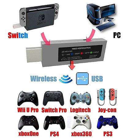 Adaptador Wireless Mayflash Magic-NS P/ Nintendo Switch Raspberry Pi Pc