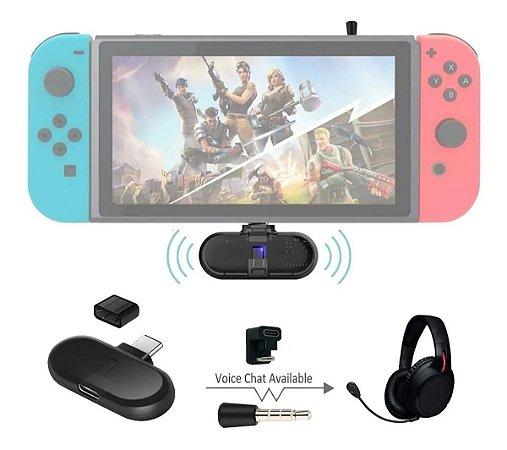 Adaptador Gulikit Route+ Pro Bluetooth P/ Fones De Ouvido Nintendo Switch