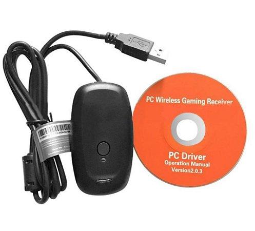 Adaptador Receptor Wireless USb P/ Controle Xbox 360 PC