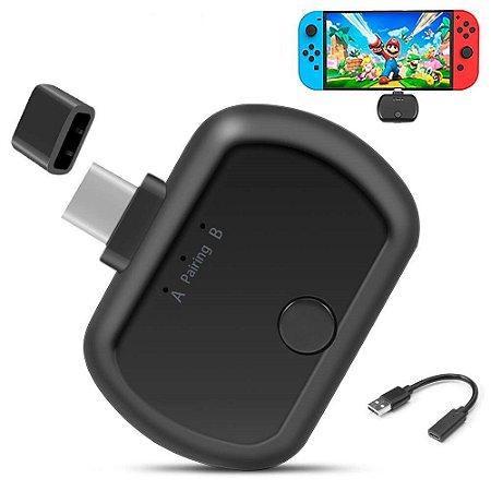 Adaptador Fone Bluetooth P/ Nintendo Switch Ps4 Pro Pc Bt-b26