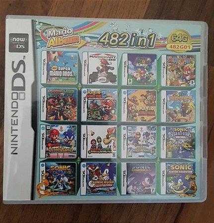 Cartucho Everdrive Multi Jogos para Nintendo 3DS 2DS + 482 Jogos
