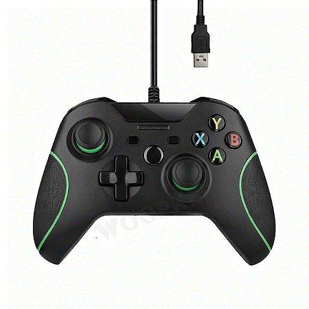 Controle Joystick Xbox One S/X USB Com Fio Windows 7 8 10