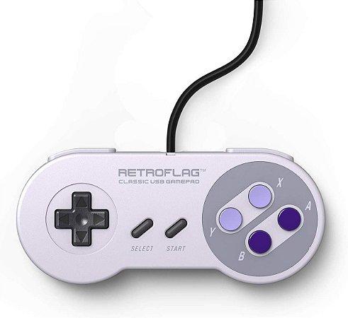 Controle Retroflag Snes USB Wired P/ Nintendo Switch Raspberry Pc
