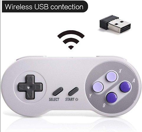 Controle Joystick Snes Super Nintendo 2.4Ghz Raspberry Pi Pc Linux
