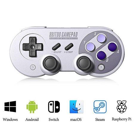 Controle 8bitdo Sn30 Sf30 Pro Bluetooth P/ Nintendo Switch Android MacOS Raspberry Pi Pc