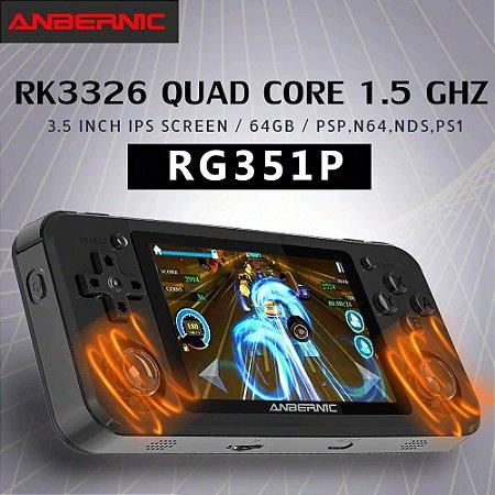 Video Game Portátil Retro Handheld Anbernic Rg351p 64Gb Tela 3.5