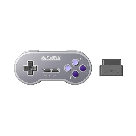 Controle 8Bitdo SN30 SF30 2.4Ghz Wireless P/ Snes Super Nintendo Famicom