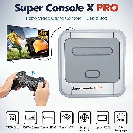 Vídeo Game Retrô Super Console X  Pro 4k Hdmi 1080p 40 Mil Jogos 50 Emuladores