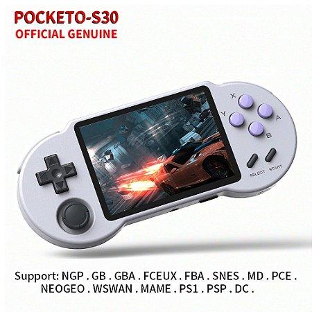Video Game Portátil Retro PocketGo S30 64gb Tela 3.5