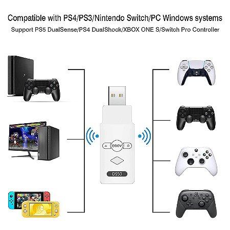 Adaptador Coov DS50 Bluetooth P/ Ps3 Ps4 Nintendo Switch Pc Raspberry Pi