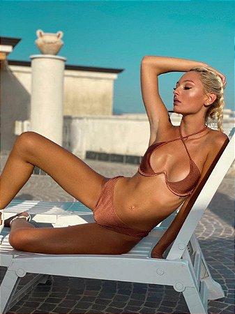 Biquíni Mônaco Top com Armação Nude Perolizado