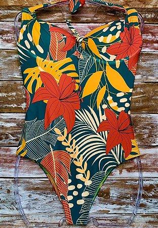 Maiô Plus Size Artes Florais