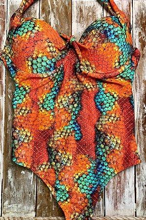 Maiô Plus Size Snake Color