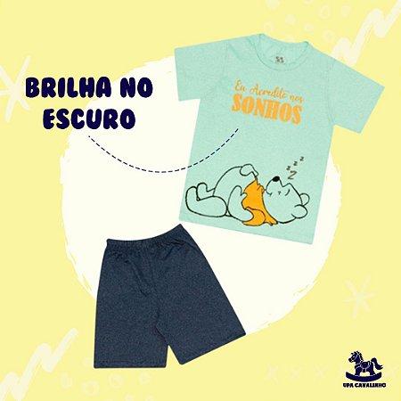 Pijama manga curta pooh