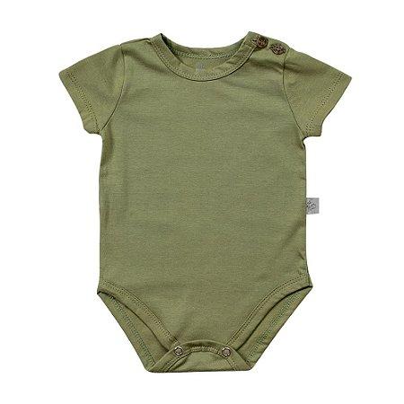 Body curto botões verde