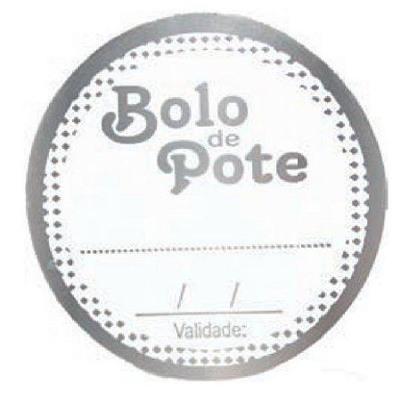ETIQUETAS BOLO DE POTE pacote com 50