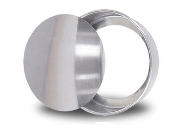 Forma Redonda 24 x5 cm Fundo Falso Alumínio A.C.