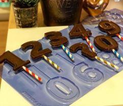 Forma FDM Vela Chocolate Números