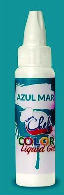 CORANTE LIQUID GEL AZUL MAR 25G