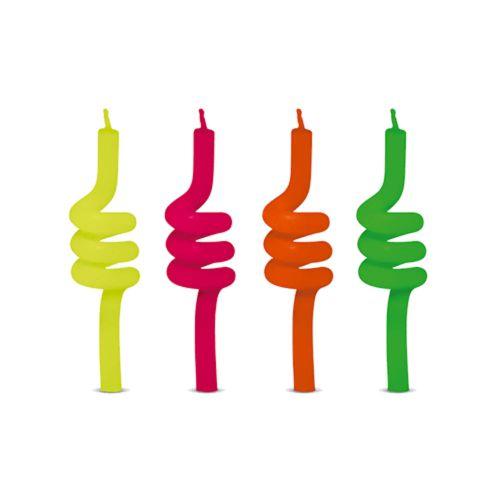 Vela Tubo Neon c/4 un