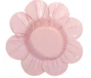 Forminha Miosotis Rosa Seco c/ 50un Decora Doces