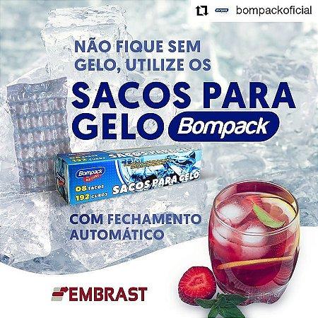 SACO PARA GELO BOMPACK DESCARTAVEL C/8