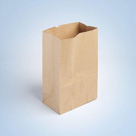 saco papel kraft 21 35 x 10 cm pct c/200