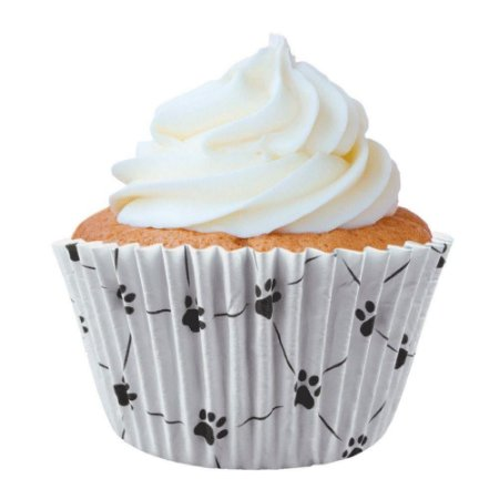 Forminha Estampada Patinhas Dog N°0 p/ cupcake pct c/ 45 Mago