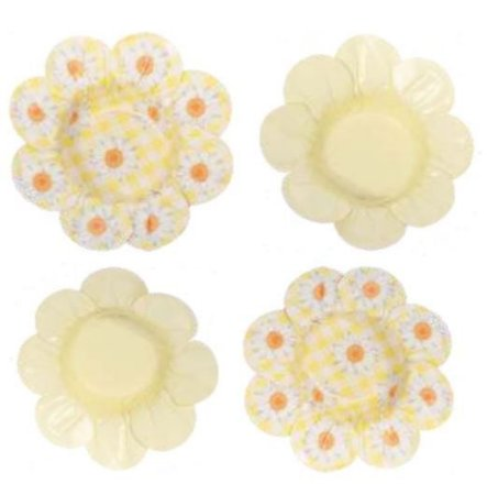 Forminha Miosotis Floral e Amarelo Bebe c/ 50 un Decora Doces