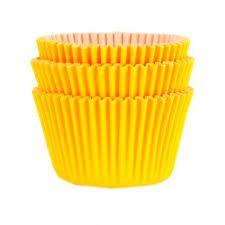 Forminha Amarelo Girassol N°0 p/ cupcake pct c/ 45 Mago