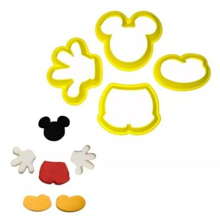 CORTADOR MICKEY KIT C/ 4 PCS