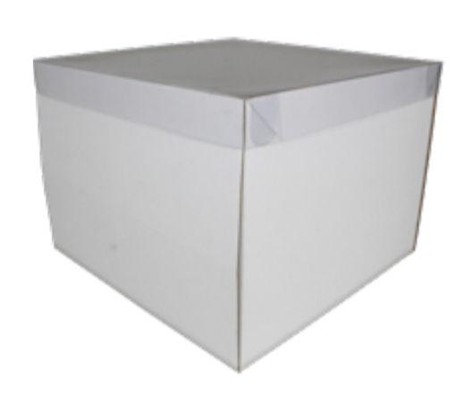 Caixa Bolo Practice com Tampa Visor 28 x 28 x 20 cm Pct c/ 05