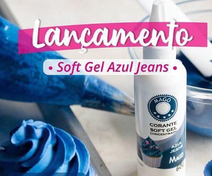 Corante Soft Gel Azul Jeans 60 g Mago