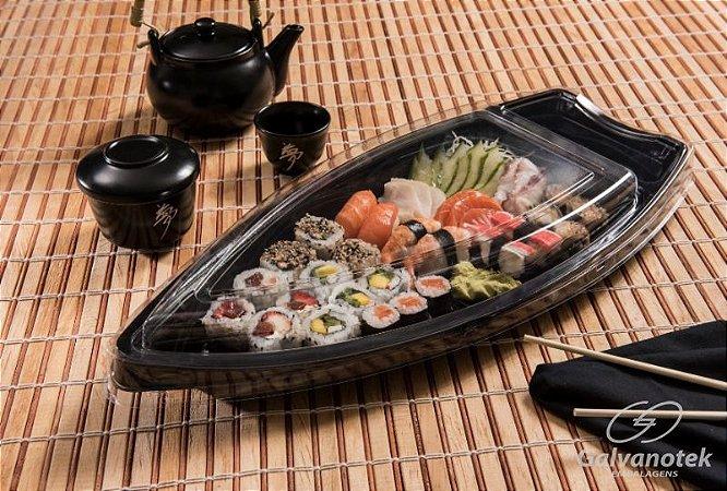 Embalagem GO930 Barca Tipo Sushi Grande