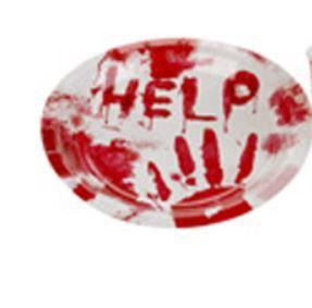 PRATO PAPEL HELP HALLOWEEN PCT C/10