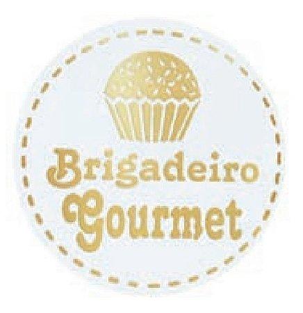 ETIQUETAS BRIGADEIRO GOURMET BRANCO pct c/100