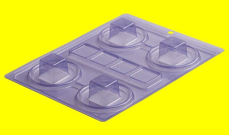 Forma de acetato especial caixinha quadrada