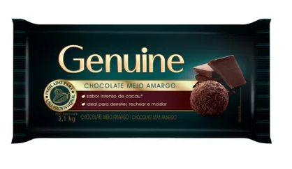 Chocolate Meio Amargo Genuine Barra 2,1 kg