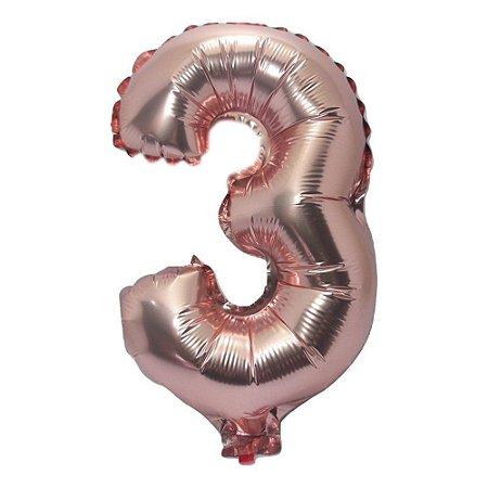 Balão Metalizado 75cm Rose N°3