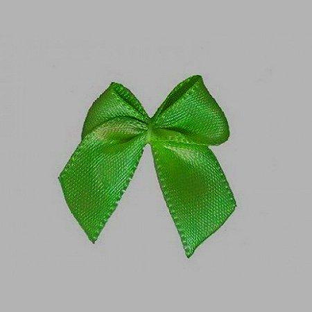 Laço Cetim N.9 Verde Bandeira Pct c/6 Ideal para Topo de Bolo