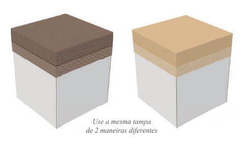 CAIXA EXPLOSAO DOUBLE FACE - MARROM/BEGE 26x26x30-PCT C/ 05 UNIDADES