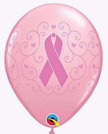 Balão 11 Rosa (unidade) Cancer de Mama Qualatex